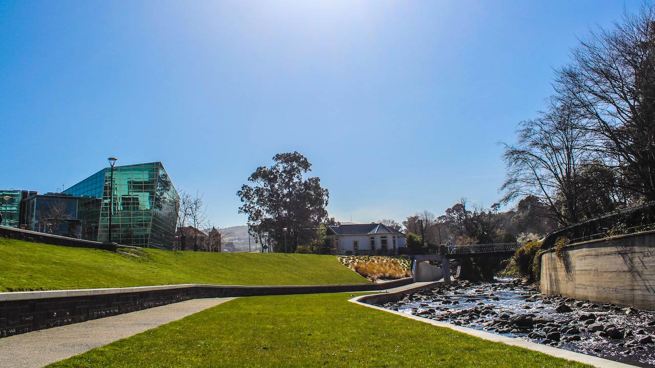 A sunny day on University of Otago's campus