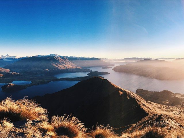 Beautiful view of the South Island of New Zealand